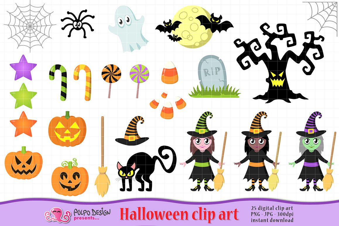 Cute . Clipart halloween design