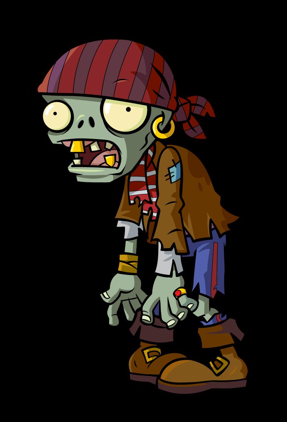 Zombie clipart cartoon baby. Pirate plants v zombies
