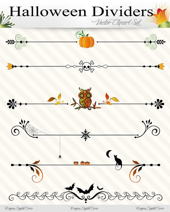 Clipart halloween divider. Page dividers vector by