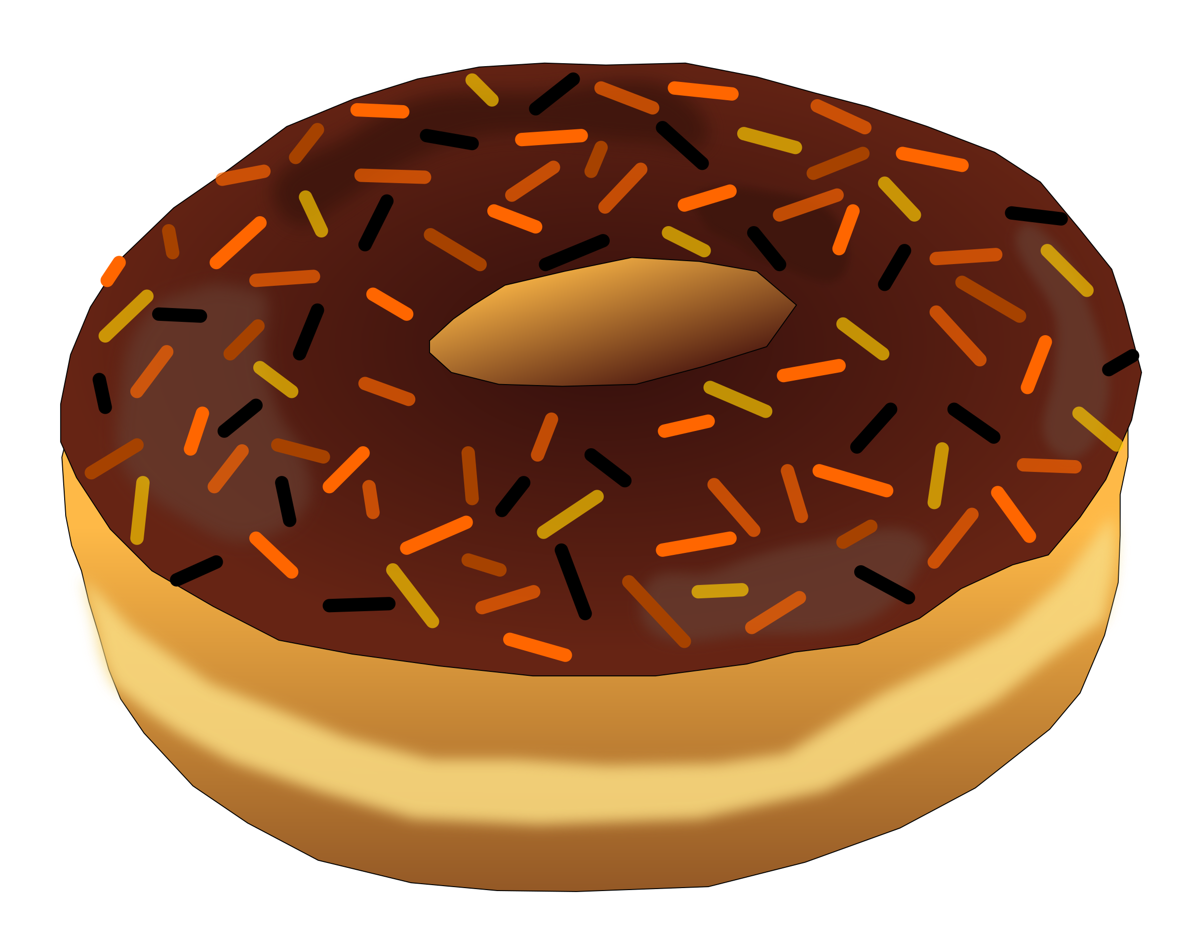 Big image png. Clipart halloween donut