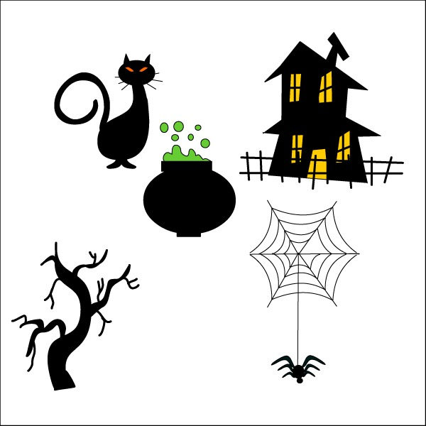Clipart halloween easy. Free simple drawings download