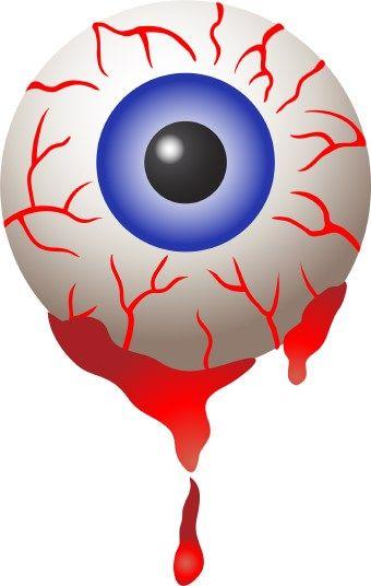 Halloween bloodshot eyeball clip. Eyeballs clipart blood