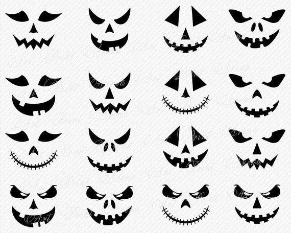 Clipart halloween face. Pumpkin svg bundle jack