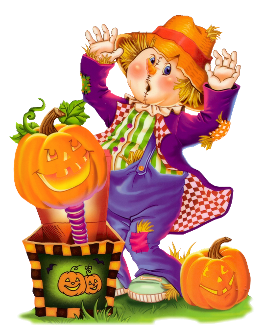 Cute scarecrow png clip. Clipart halloween fall