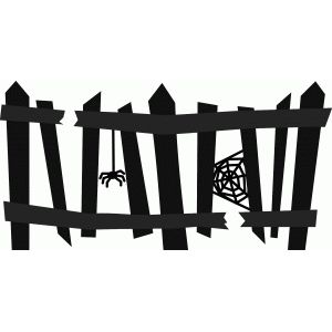 Silhouette design store search. Clipart halloween fence