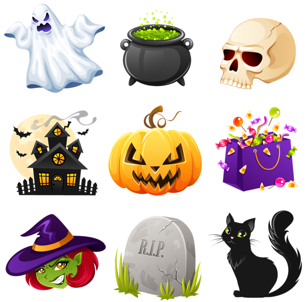 Png creepy pictures collection. Clipart halloween flyer