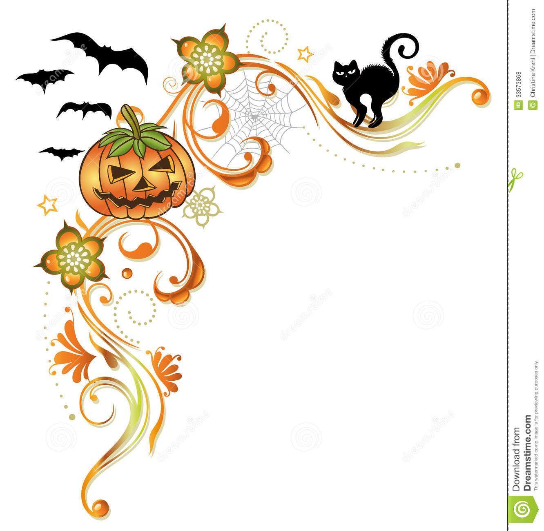 Free clip art borders. Clipart halloween flyer