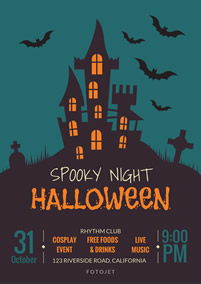 Flyers design your own. Clipart halloween flyer