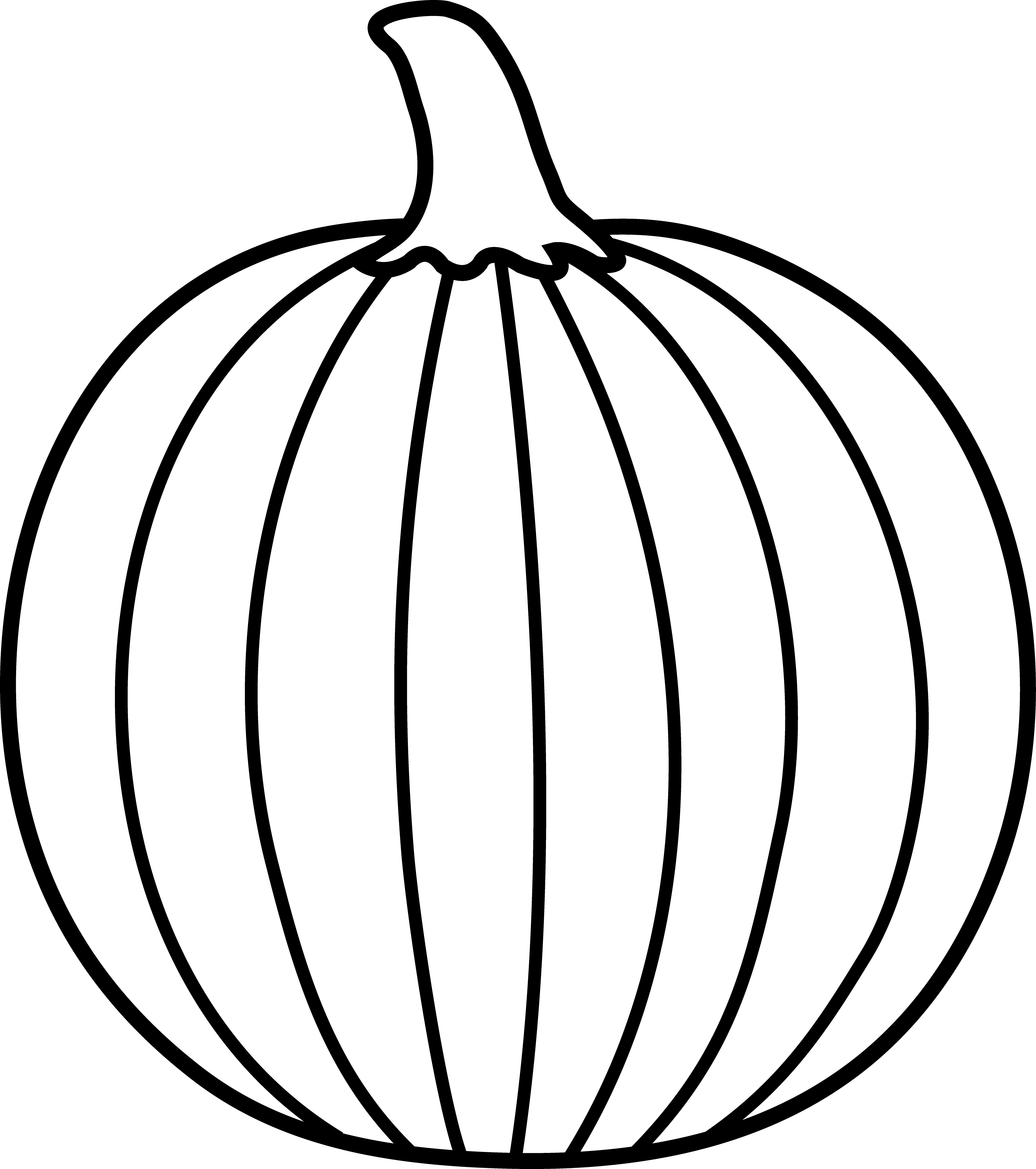 Black and white pumpkin. Clipart vegetables outline