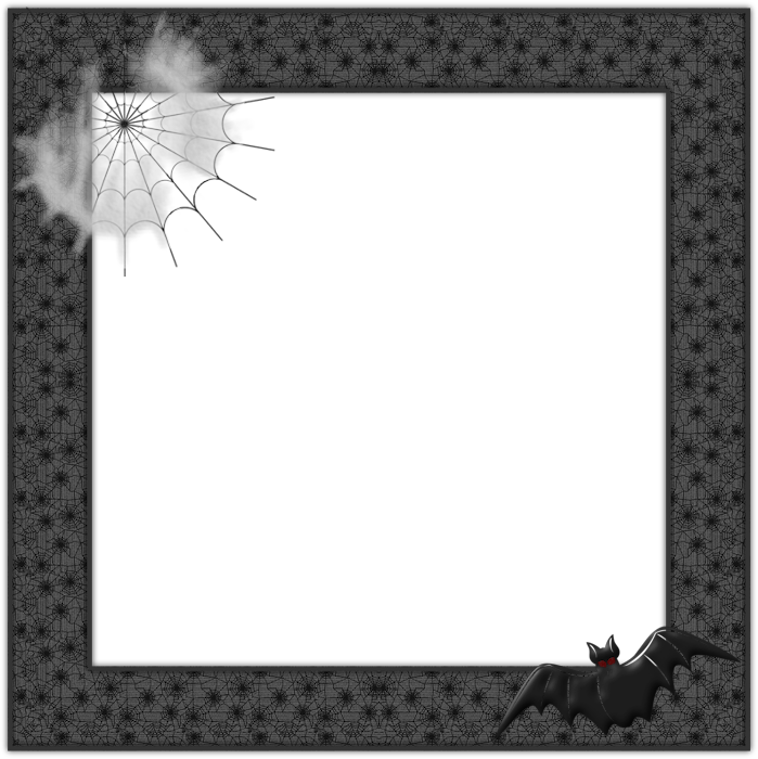 Clipart halloween frame. Png web and bat