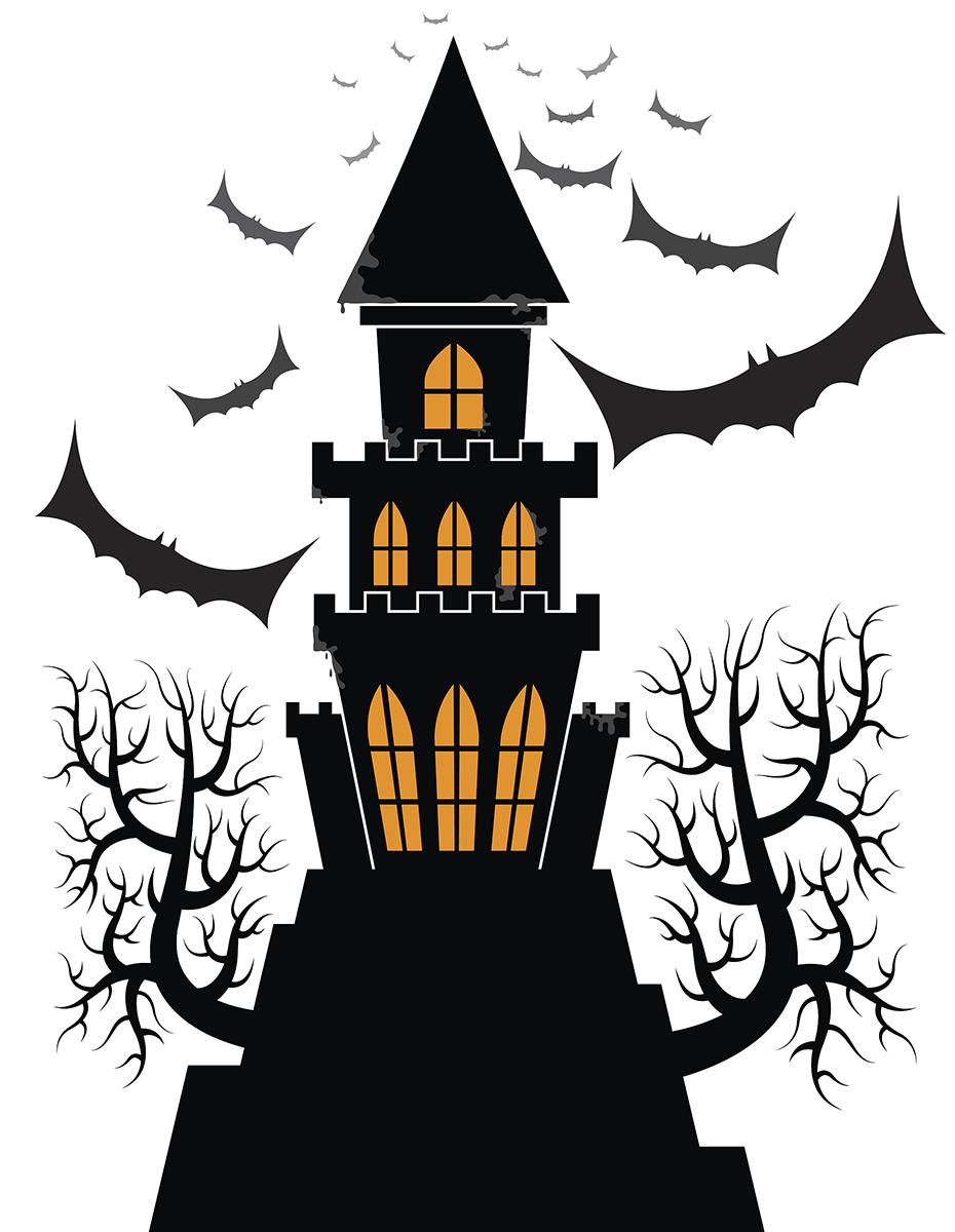 Friendly clipart frankenstein. Castle halloween clip art
