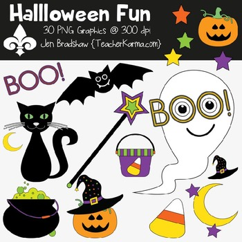 Clipart halloween fun. Commercial use ok autumn
