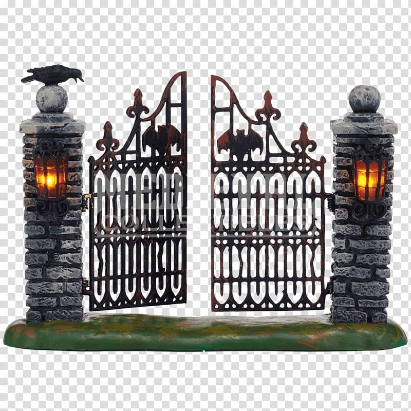 Gate clipart halloween. Wrought iron department christmas