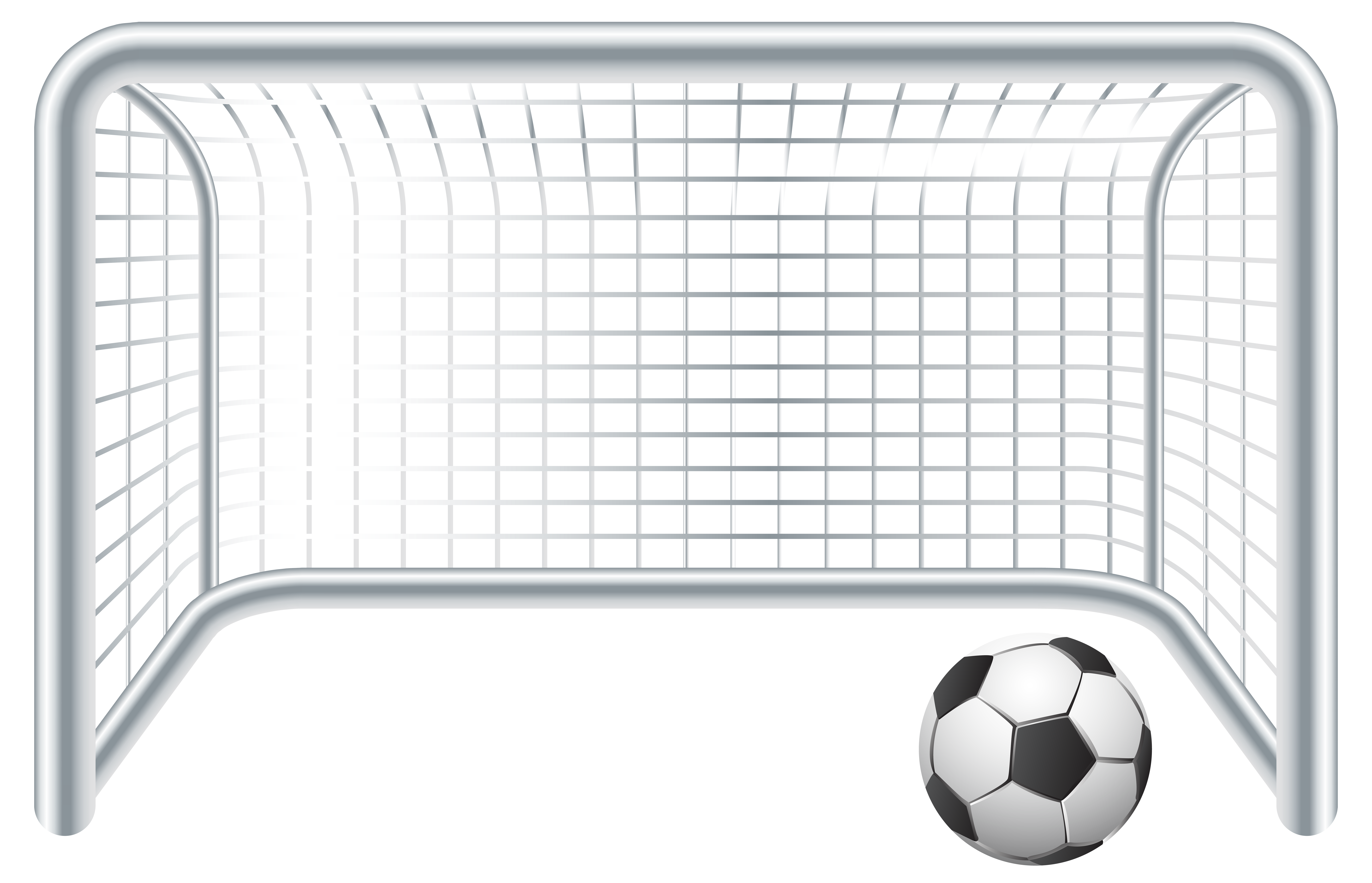 Gate clipart transparent background. Soccer ball and goal