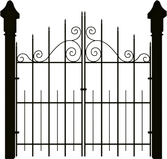 Fencing clipart house gate. Spooky