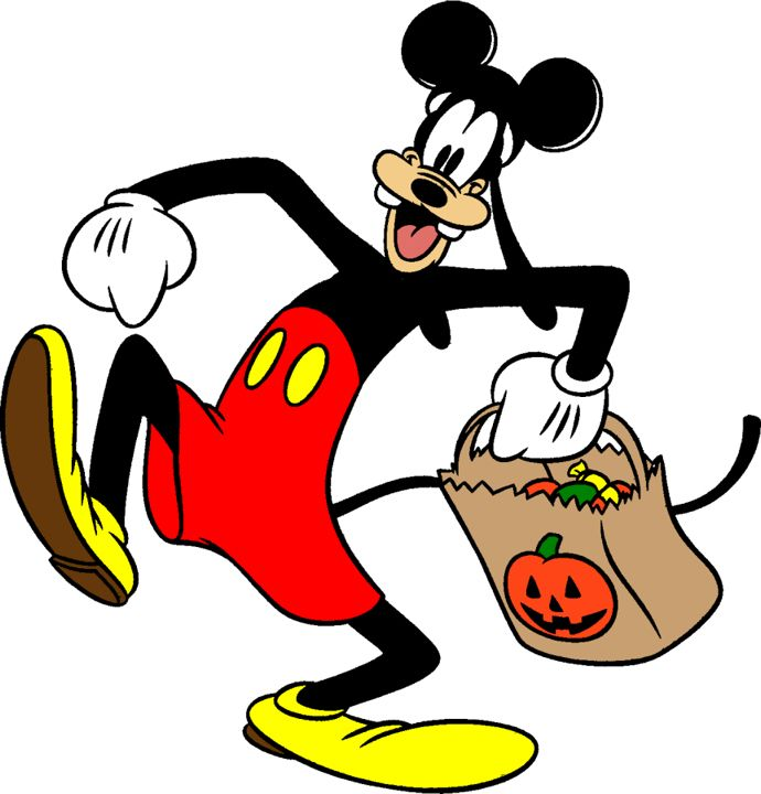 Clipart halloween goofy. Disney s character mickey