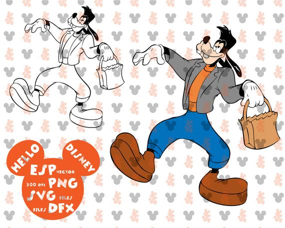 Disney frankenstein cut files. Clipart halloween goofy