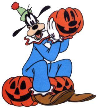 Disney langbein . Clipart halloween goofy
