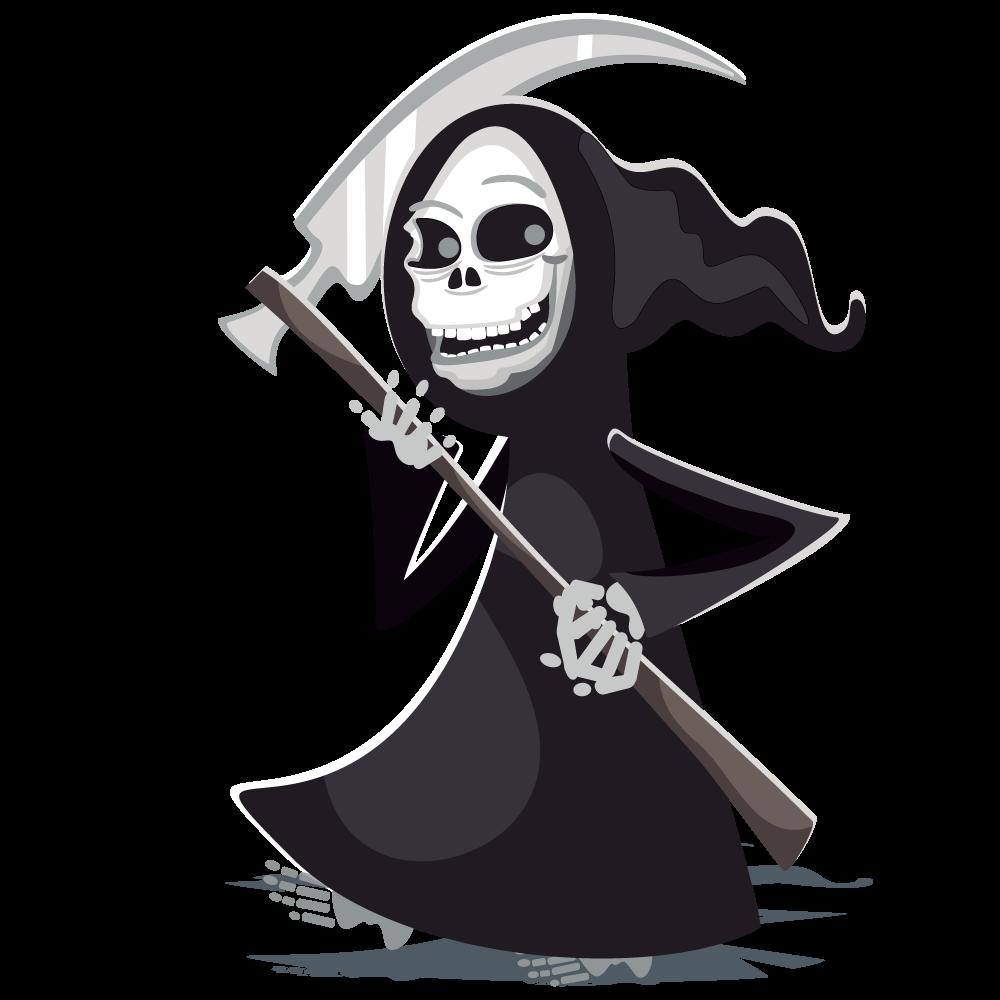 Grim reaper halloween clip. Death clipart animated