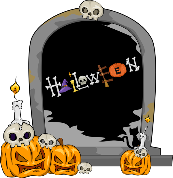 Clipart halloween grave.  collection of gravestones