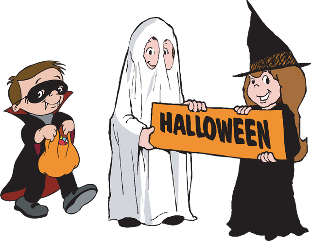 collection of group. October clipart trick or treater