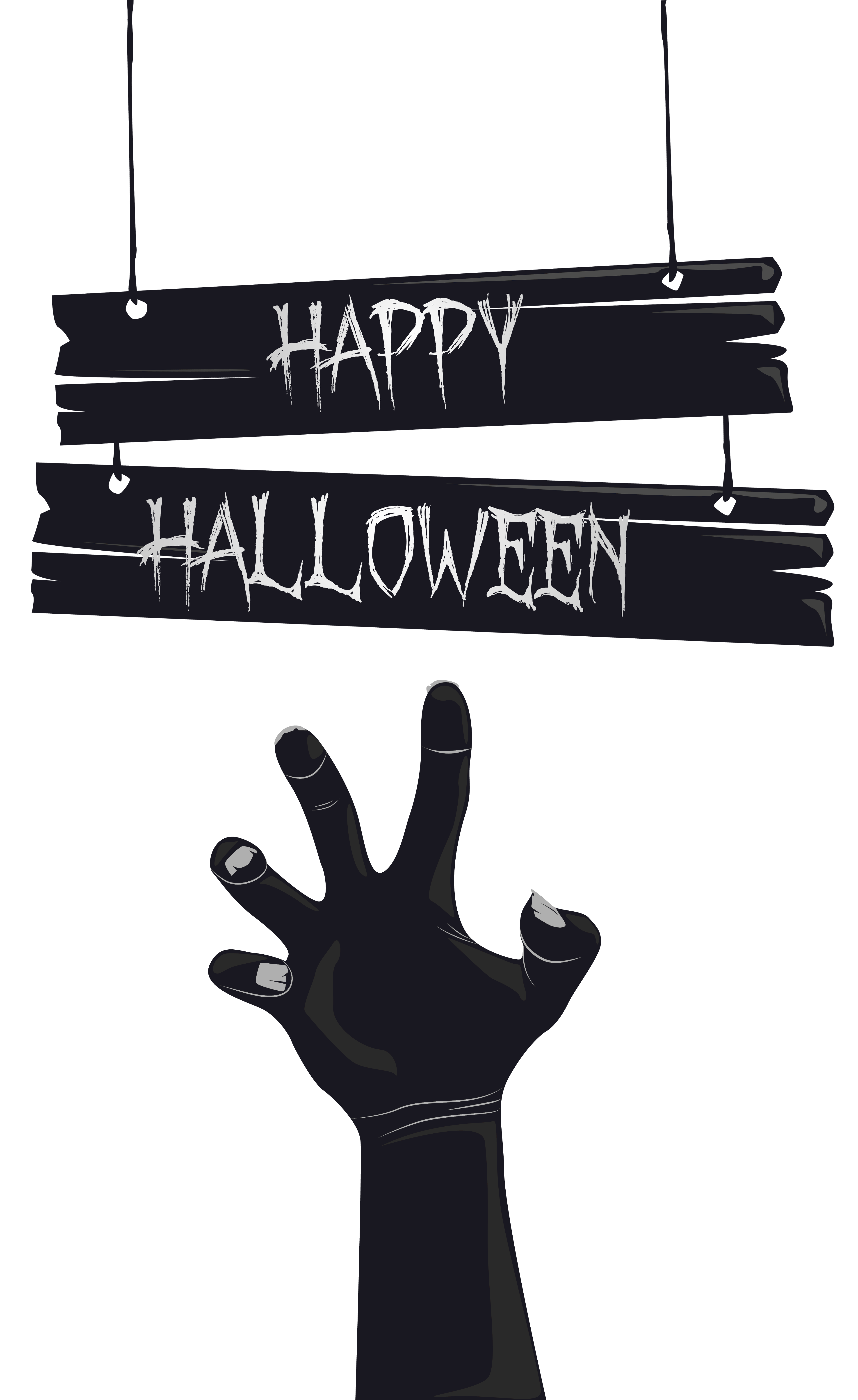 Clipart halloween hand. Happy with grave png