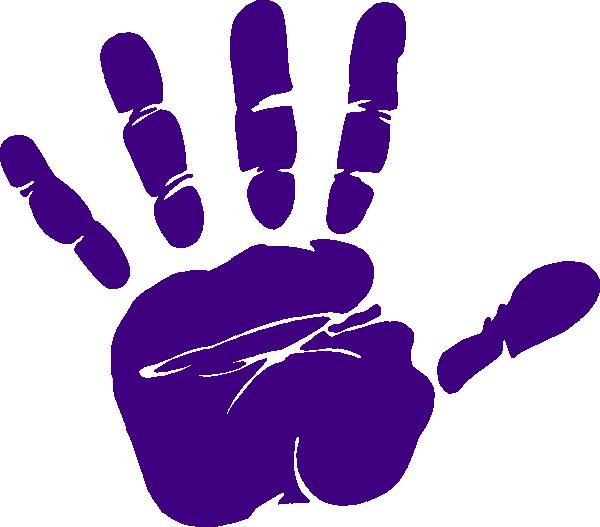 Hand print clip art. Handprint clipart purple