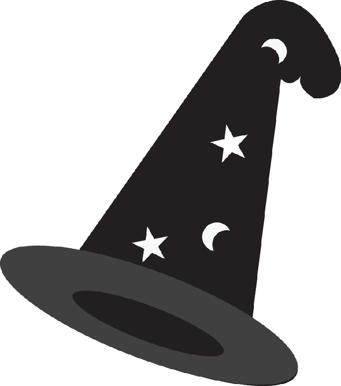 Harry potter minus monsters. Magician clipart halloween hat