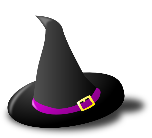 Witch panda free images. Clipart halloween hat