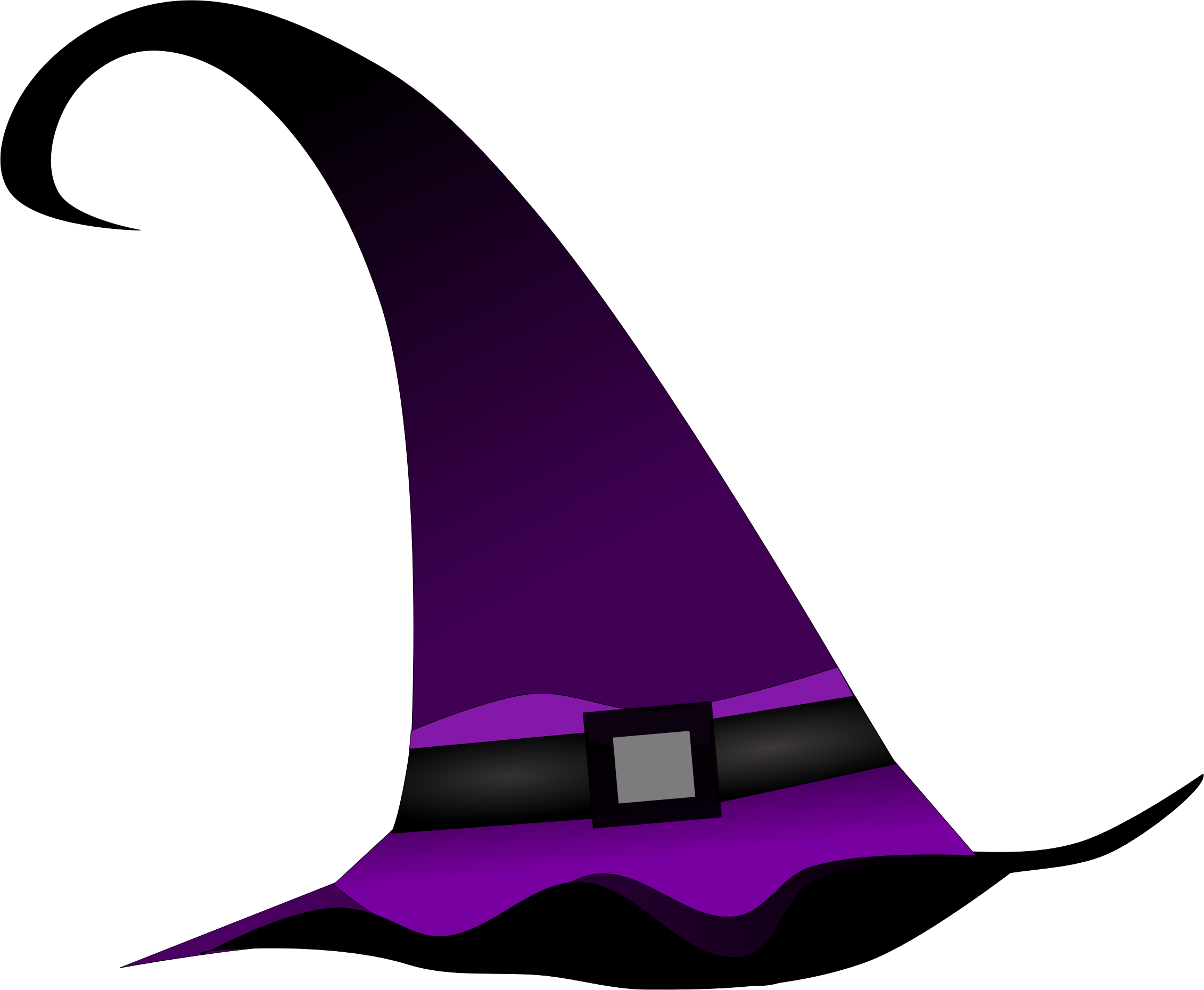 Purple witch big image. Clipart halloween hat