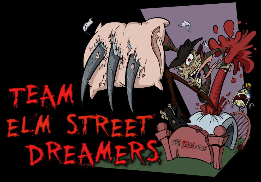 Team elm street dreamers. Clipart halloween haunted house