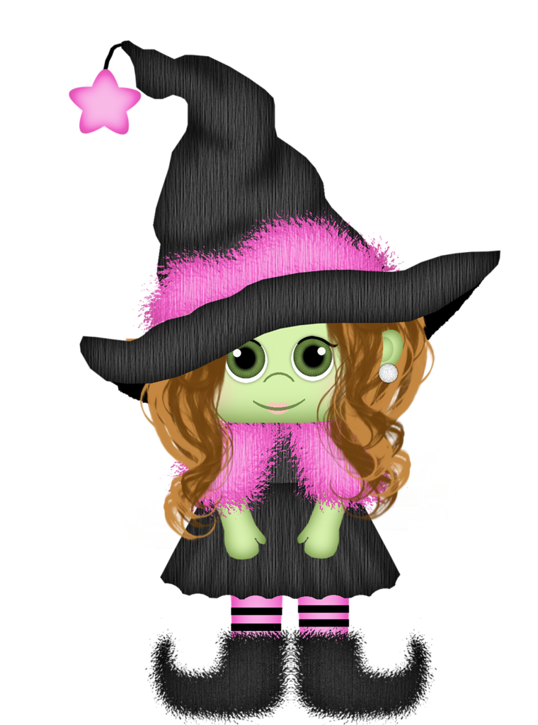 Crazy witch by karina. Clipart halloween invitation