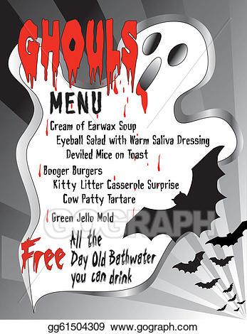 Vector illustration humorous eps. Clipart halloween menu