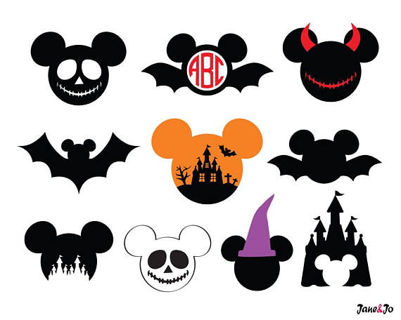 Halloween clipart mickey. Svg vector