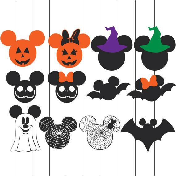 Instant download svg bundle. Clipart halloween mickey
