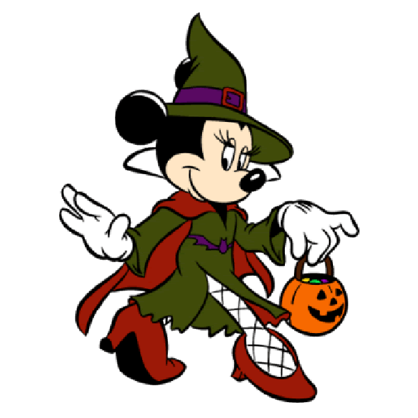 Disney page characters mouse. Halloween clipart minnie