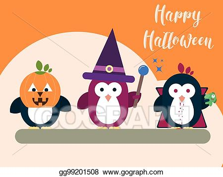 Clipart halloween modern. Vector card template with