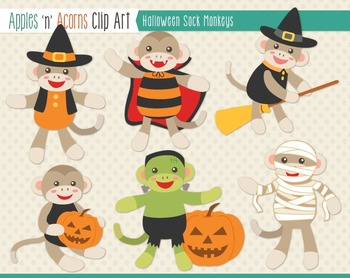 Clipart monkey halloween. Sock monkeys clip art
