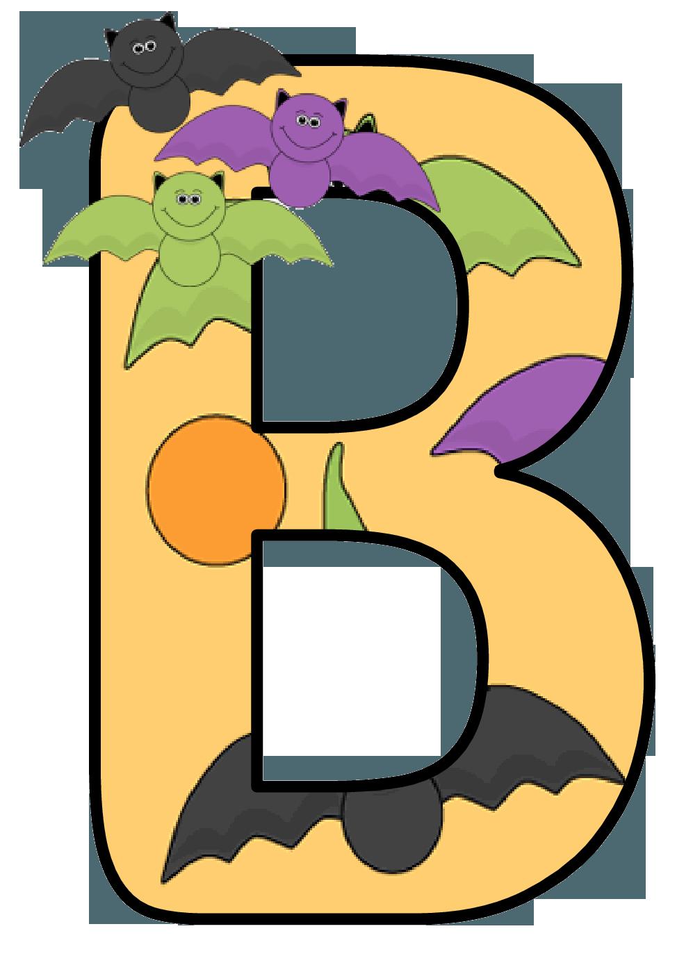 Ch b alfabeto murcielago. Soup clipart halloween
