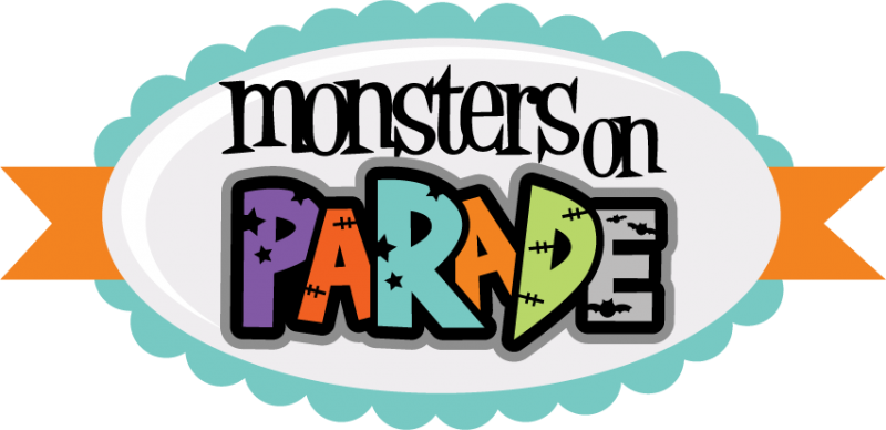 Numbers clipart monster. Monsters on parade svg
