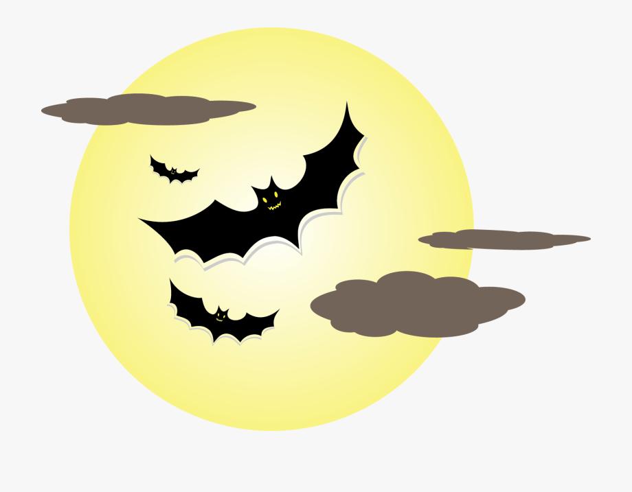 Bat png photo decorations. Clipart halloween moon
