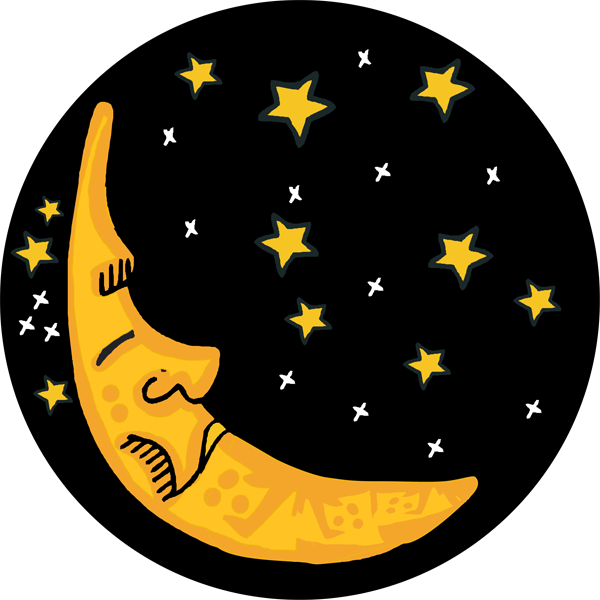 Sleepy moon clip art. Halloween clipart night