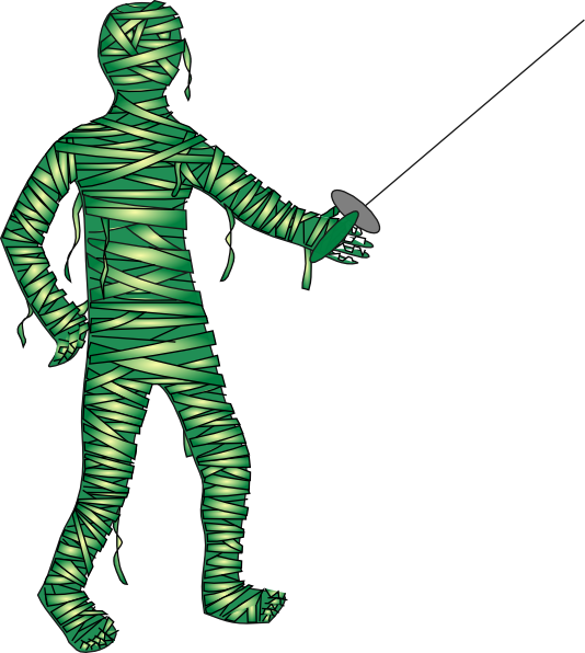 Green fencing clip art. Clipart halloween mummy
