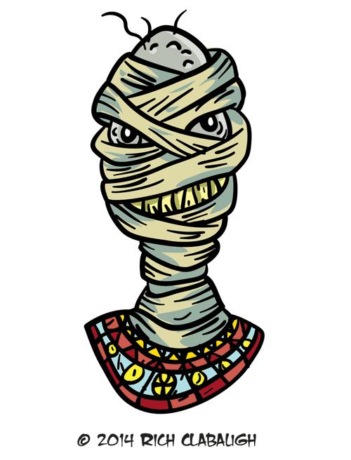 Clipart halloween mummy. Monster face the graveyard