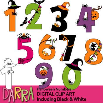Clipart halloween number. Numbers clip art
