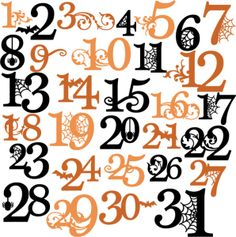Numbers free download best. Clipart halloween number