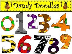 Clipart halloween number. Clip art arts for