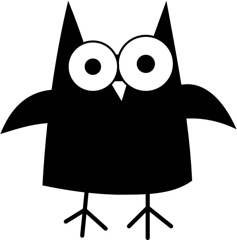 Owl panda free images. Halloween clipart black and white