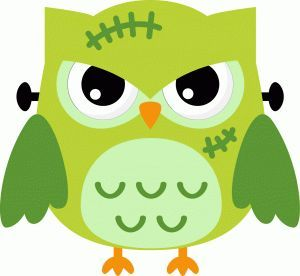 Halloween clip art . Frankenstein clipart owl