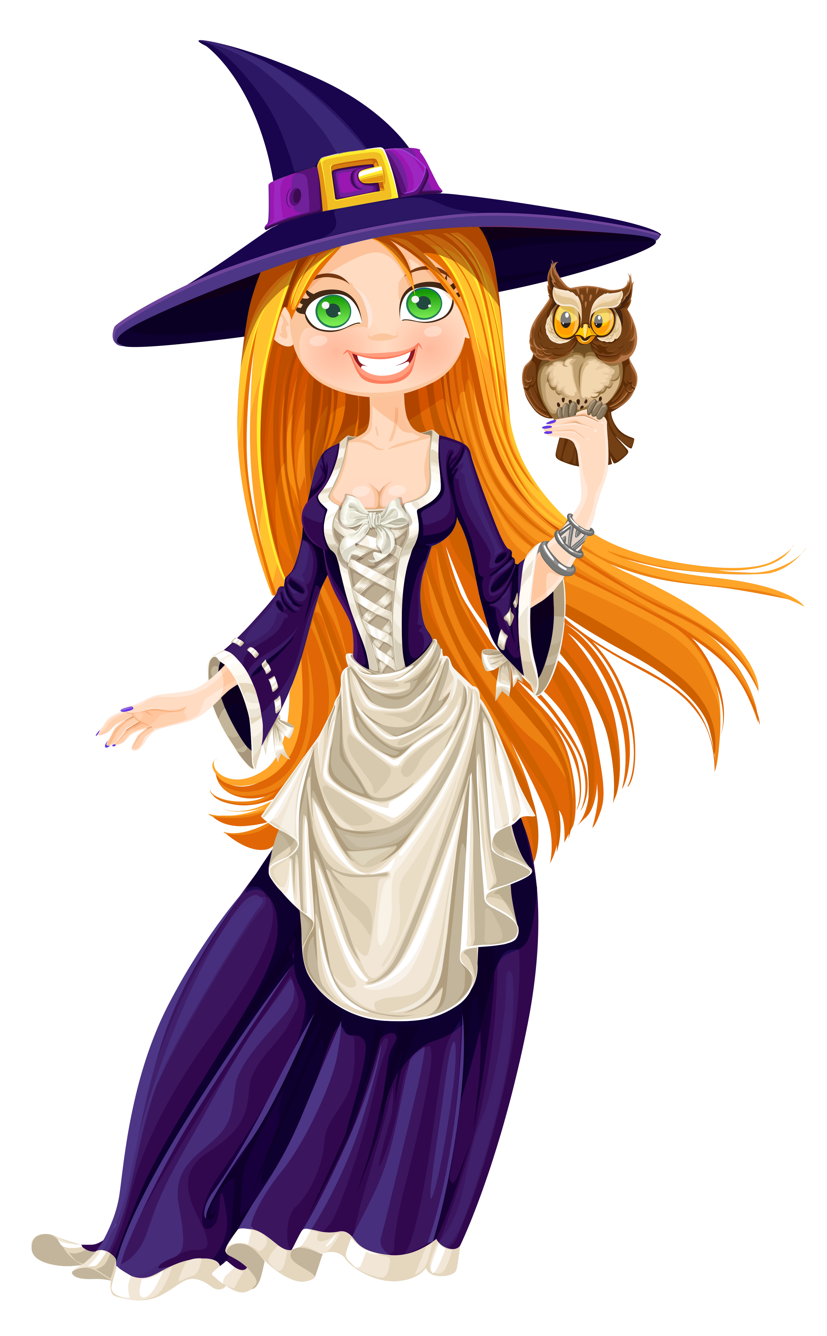 Witch with png gallery. Clipart halloween owl